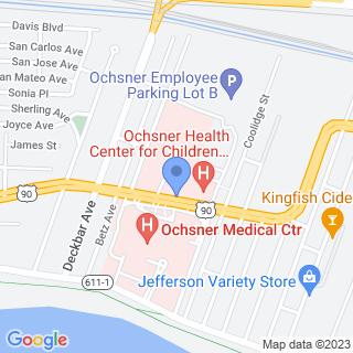 Ochsner Medical Center on a map