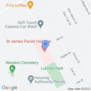St James Parish Hospital on a map