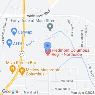 Northside Medical Center on a map
