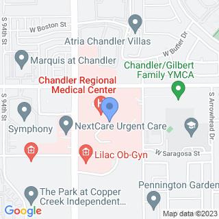 Chandler Regional Medical Center on a map