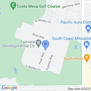 Fairview Developmental Center on a map