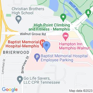 Baptist Memorial Hospital on a map