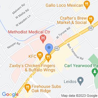 Methodist Medical Center Of Oak Ridge on a map