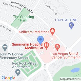 Summerlin Hospital Medical Center on a map