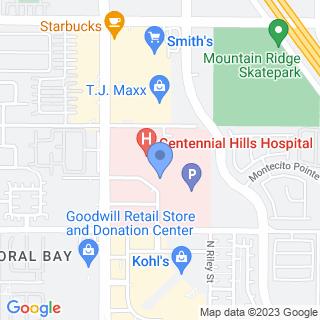 Centennial Hills Hospital Medical Center on a map