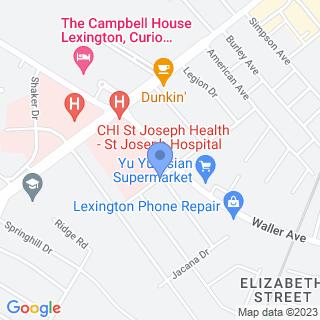 Saint Joseph Hospital on a map