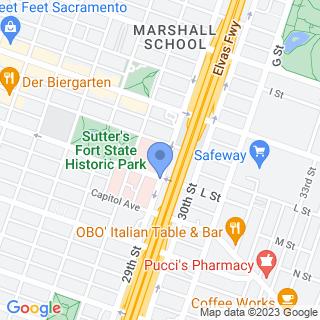 Sutter Medical Center, Sacramento on a map