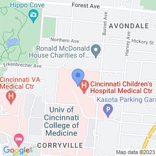 Cincinnati Children's Hospital Medical Center on a map