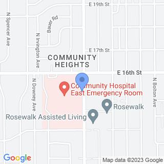 Community Hospital East on a map