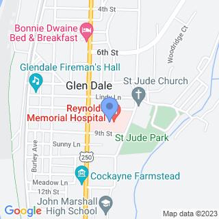 Reynolds Memorial Hospital on a map