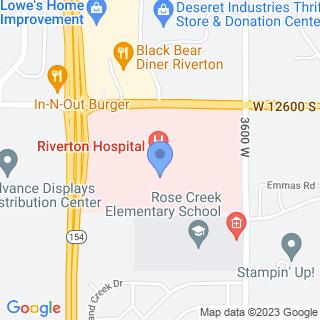 Riverton Hospital on a map