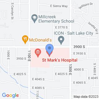 St Mark's Hospital on a map