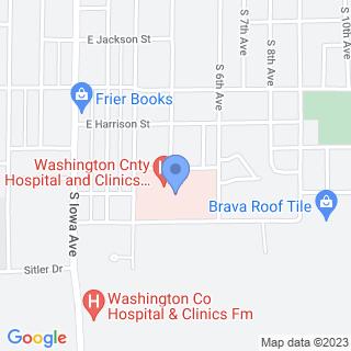 Washington County Hospital And Clinics on a map