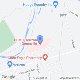 Upmc Horizon on a map