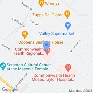 Regional Hospital Of Scranton on a map