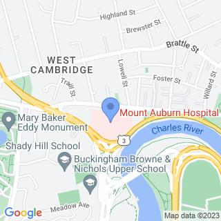 Mount Auburn Hospital on a map