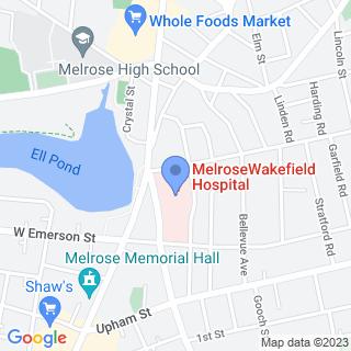 Hallmark Health System on a map