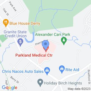 Parkland Medical Center on a map