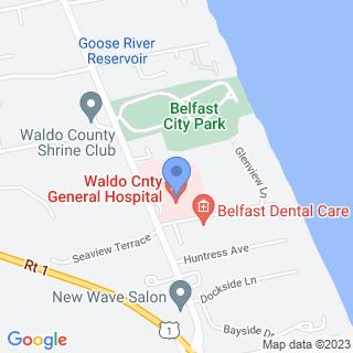 Waldo County General Hospital on a map