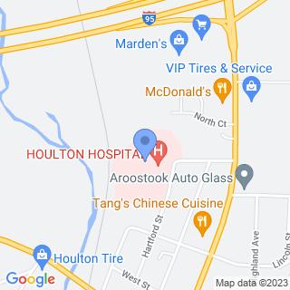 Houlton Regional Hospital on a map