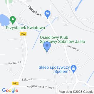 """Osiedlowy Klub Sportowy """"Sobniów"""" Jasło na mapie"""