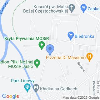 """Uczniowski Klub Sportowy """"Mosir"""" Jasło na mapie"""