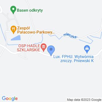"""""""Kompetentne Przedszkolaki"""" Punkt Przedszkolny w Hadlach Szklarskich map.on"""
