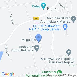 Mega Taxi na mapie
