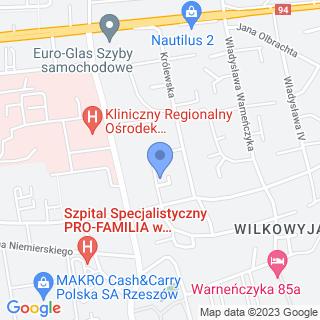 """Rzeszowskie Stowarzyszenie na Rzecz Dzieci Niepełnosprawnych i Autystycznych """"Solis Radius"""" w Rzeszowie na mapie"""