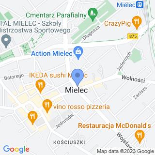 Forum Organizacji Pozarządowych Powiatu Mieleckiego na mapie