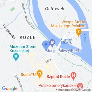"""Kozielskie Stowarzyszenie Miłośników Historii i Archeologii """"Explorator"""" na mapie"""