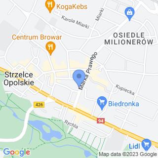Sklep rowerowy na mapie