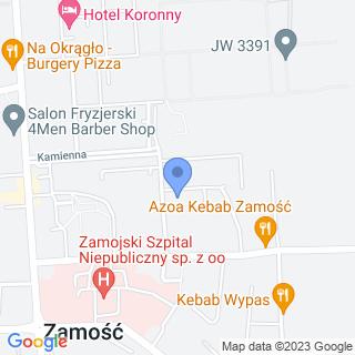 Przedszkole Miejskie nr 8 im. Jana Brzechwy w Zamościu na mapie