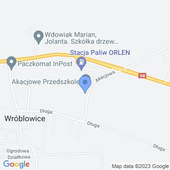 Akacjowe Przedszkole Niepubliczne Przedszkole we Wróblowicach map.on