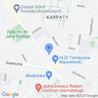 Towarzystwo Przyjaciół Dzieci Oddział Powiatowy w Tomaszowie Mazowieckim na mapie
