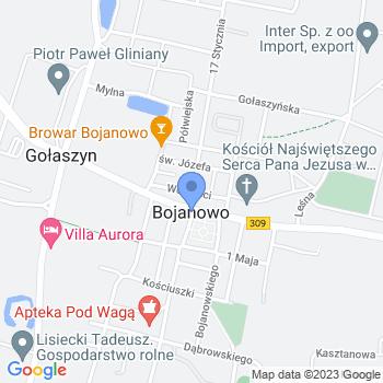 """Przedszkole Niepubliczne """"Chatka Puchatka"""" Andżelika Rajkowska ul. Powstańców Wielkopolskich 1663-940 Bojanowo map.on"""