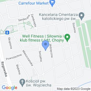 Polskie Towarzystwo Chorób Nerwowo-Mięśniowych Oddział Regionalny w Łodzi na mapie