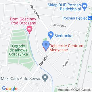 """NZOZ """"Dębieckie Centrum Medyczne"""" na mapie"""