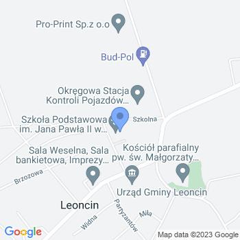 """""""Jacek i Agatka - Wesoła i Twórcza Gromadka"""" - Punkt Przedszkolny w Gminie Leoncin map.on"""
