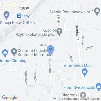 Przedszkole nr 2 w Łapach map.on