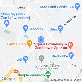 """NZOZ """"Lekmed"""" Zdzisława Gołębiewska na mapie"""