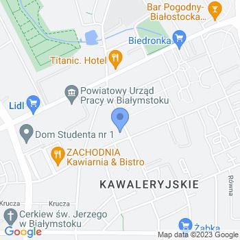 """Akademia Sukcesu """"Nasza Szkoła"""" Przedszkole Niepubliczne nr 1 im. Marii Konopnickiej w Białymstoku map.on"""