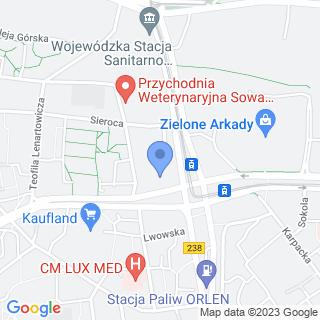 Gabinet Fizjoterapii Zwierząt Rehavet na mapie