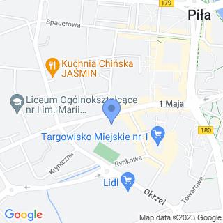 """Uczniowski Klub Żeglarski """"Wodniak"""" w Pile na mapie"""