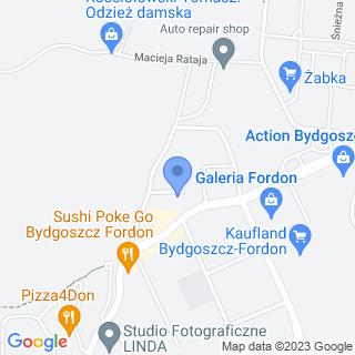 """Przedszkole Niepubliczne """"Zaczarowany Zakątek"""" w Bydgoszczy na mapie"""