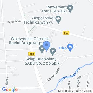 Przedszkole nr 2 w Suwałkach na mapie