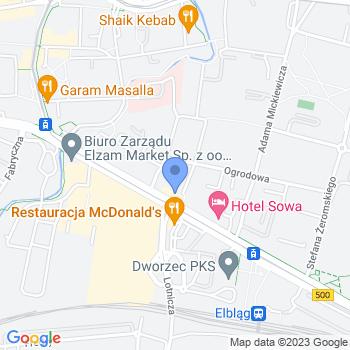Liga Kobiet Polskich Oddział Terenowy w Elblągu map.on