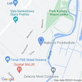 """""""Bajkowe Przedszkole"""" Przedszkole Niepubliczne w Słupsku map.on"""