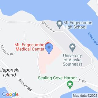 Mt Edgecumbe Hospital on a map