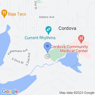 Cordova Community Medical Center on a map